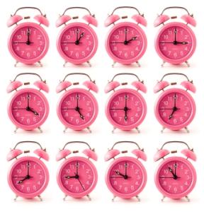 iStock pink clocks