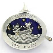 Brooch - rocking the boat, as worn by Hazel Blears