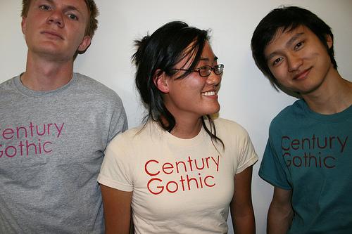 Century Gothic T-shirts
