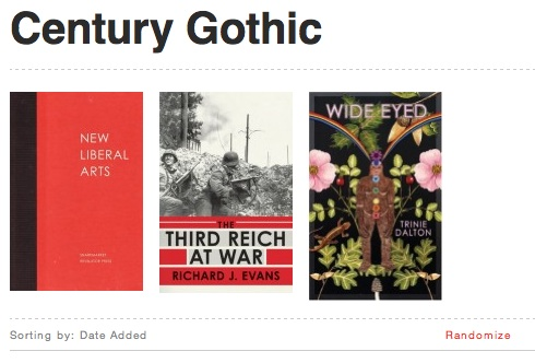 Book cover archive, filtered by typefact – century gothic