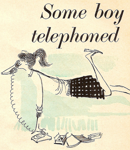 Some boy telephoned