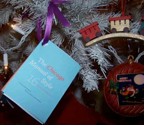 Chicago Manual of Style, Minibook tree decoration