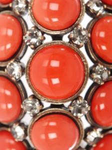 Lanvin coral bracelet, detail