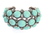 Turquoise-coloured and crystal bracelet by Lanvin