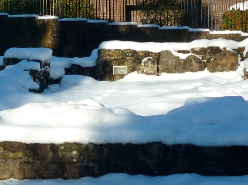 Snow at Roman Baths, Bearsden