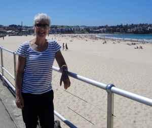 Ruth Webber at the beach