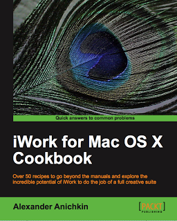 "Cover of ""iWork for Mac OS X Cookbook"""